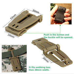 Molle Strap LJ Webbing Connecting Buckle Clip 30mm Black For Backpack ^qi