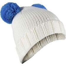 Spyder Girl's Pom Pom Hat, White/French Blue, One Size