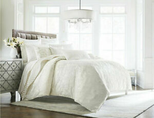 Hotel Collection Classic Cambria Off White Jacquard King Duvet Cover