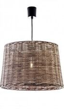 HIGH QUALITY RATTAN / WICKER ROUND HANGING PENDANT LAMP - 29 x 34 x 21.5 CM