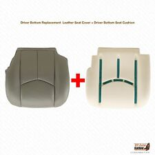 2007 GMC Sierra 3500 Driver Bottom Leather Seat Cover PLUS Foam Cushion GRAY