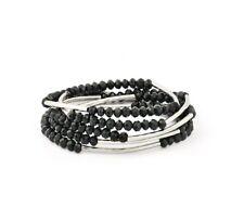 Chrysalis Obsidian Black Self Belief Elasticated Wrap Bracelet