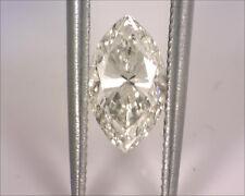 EGL USA Certified 0.85 I SI1 Marquise Brilliant Natural Loose Diamond Gem Card