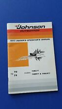 1977 Johnson Outboard Motor Owners Manual  Johnson OMC Owners Manual