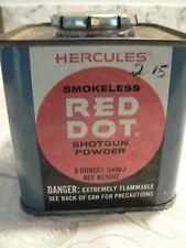 Vintage Hercules Smokeless Red Dot Gun Powder Tin