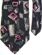 "X'Andrini Men's Silk Novelty Neck Tie Gray 3 7/8"" x 58"""