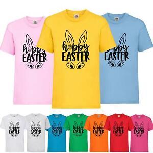 Kids Hoppy Easter 2021 Bunny T-Shirt Childrens Cute Funl Happy Gift Egg Tee