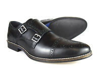 Red Tape Eaton Men's Black Leather Formal Brogue Shoes RRP £45 Free UK P&P!