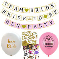 TEAM BRIDE HEN PARTY BANNER CONFETTI BALLOONS GIRLS NIGHT OUT DO BRIDE TO BE LOT