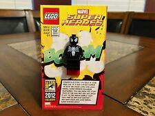 LEGO MARVEL BLACK SPIDERMAN MINI FIGURE 2012 SDCC SAN DIEGO COMIC CON VERY RARE!