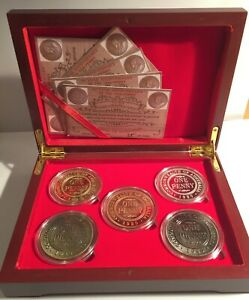 2020 Boxed Set of 5 x 1 oz 90 year Anniversary of the 1930 penny coins LTD 5,000