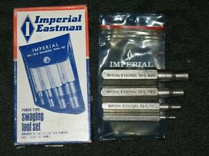 """Imperial Eastman Punch Type Swaging Tool Model No. 93-S 5/8'', 1/2"""", 3/8"""", 1/4"""""""