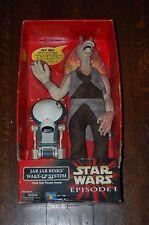 """Jar Jar Binks Wake Up System w/Pit Droid-22"""" Tall-Star Wars The Phantom Menace"""