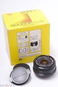 ✅ SOLIGOR 28MM 2.8 MC C/D WIDE AUTO ANGLE LENS M42, 42MM SCREW MOUNT BOXED