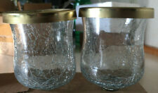 """Home Interiors- """"Eclipse-Crackle Votive Cups With Gold Rim"""" -New in Box"""