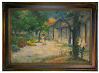 Gauguin Village in Martinique 1887 Wood Framed Canvas Print Repro 12x18