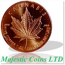 2017 Silver Shield Canada Mock Cannabis 1 oz .999 Copper Round GreenbudLife