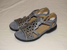 BNIB size 8 UK  D fit CLARKS UNSTRUCTURED Sandals 'UN SUGAR' DENIM BLUE LEATHER