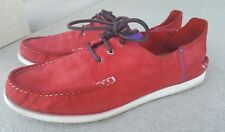 Men's PAUL SMITH Suede Leather Casual SHOES Red sz 12.5 11.5