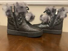 Stuart Weitzman Fur Boots Girls Size 8