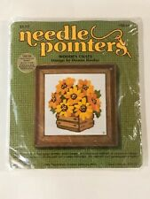 Vintage Needle Pointers Sunset Designs WOODEN CRATE # 5248 Needlepoint Kit NEW!