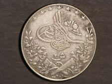 EGYPT 1903H (AH1293/Yr 29) 20 Qirsh Silver Crown