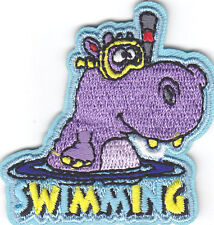 SWIMMING Iron On Patch Water Sports Swimmer