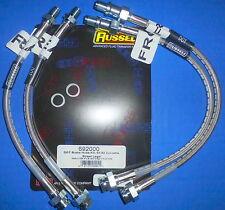 Russell 692000 Stainless Steel Braided Brake Line Hose Kit Corvette 1963-1982