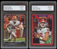 TREVOR LAWRENCE 2021 PRO SET/LEAF iCARD 1ST GRADED 10 ROOKIE CARD 2 LOT JAGUARS