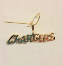 SAN DIEGO CHARGERS Team Name Pendant 24k Gold Plated Charm Fan Jewelry NFL