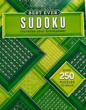 Best Ever SUDOKU 250 puzzles Brain Activity Creative Indoor Game Logic