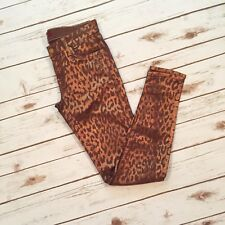 7 For All Mankind Copper Cheetah Skinny Jeans
