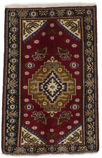 Hand Knotted Tribal Red Small 3X4 Vintage Oriental Rug Home Entrance Wool Carpet