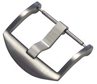 22mm Panatime Brushed ARD Watch Buckle - Spring Bar Attachment