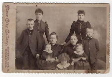 PHOTO - CABINET - Famille Enfant Groupe - FLOUR CITY GALLERY MINNEAPOLIS - 1900s