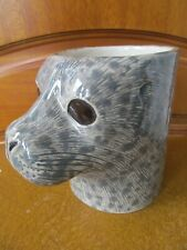 More details for quail ceramics harbour seal  desk tidy pencil /pen / brush holder  pot boxed new