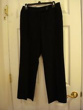Worthington Stretch Black Polyester/Rayon Flat Front Pants Women's Size 8 Petite