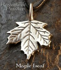 Maple Leaf - Pewter Pendant - Tree of Life, Nature Jewelry, Forest, Canada,