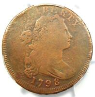 1798 Draped Bust Large Cent 1C Coin (Reverse of 1795) - Certified PCGS VG Detail