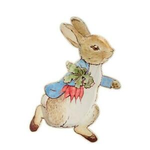 PETER RABBIT Die Cut Party Plates Baby Shower, Christening or Birthday (12 Pack)