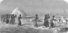 SHIPS. West Turkestan. Turkoman burial 1880 old antique vintage print picture
