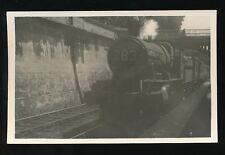 Somerset BATH RAILWAY loco6393 with train at STATION platform 1953 photo