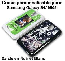 SAMSUNG GALAXY S4 / i9505 COQUE ETUI NOIR PERSONNALISABLE PHOTO TEXTE LOGO