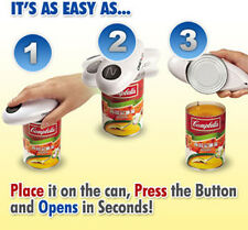 Kitchen Helper Electric Automatic One Touch Bottle Jar Tin Can Openner Hand Free