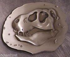 Pewter Belt Buckle animal Dinosaur Fossil Head NEW