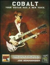 Joe Bonamassa Gibson '58 Double Neck Ernie Ball Cobalt guitar strings 8 x 11 ad