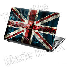 "15.6"" TaylorHe Laptop Vinyl Skin Sticker Decal Protection Cover Union Jack 1177"