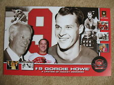 GORDIE HOWE MR HOCKEY 80TH BIRTHDAY POSTER RED WINGS