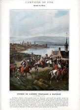 Stampa antica RIVOLUZIONE FRANCESE 1792 PRESA di MAGONZA MAINZ 1890 Old print