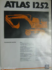 Bagger Mobil o. Hydraulikbagger Prospekt/Heft/INFO Technische Daten Atlas 1252
